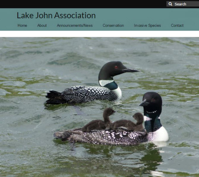Lake John Association Website