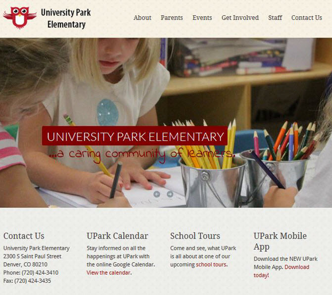 University Park Elementary School Website