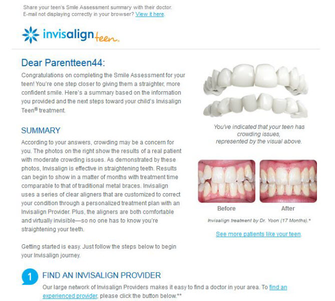 Invisalign Smile Assessment, Teen, Child and Bride