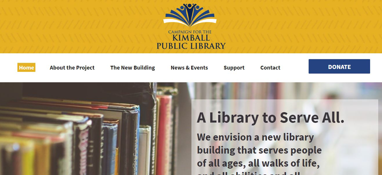 Campaign for the Kimball Public Library - Kimball, Minnesota